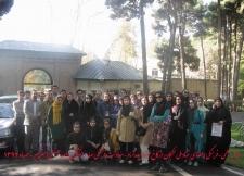 بازدید اعضای بنیاد ملی نخبگان از کاخ موزه سعدآباد و باغ گیاه شناسی